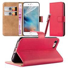 Fundas y carcasas liso de color principal rojo para teléfonos móviles y PDAs Apple