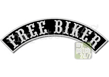 Aufnäher BikerPatch FREE BIKER Bogen oben 30cm stick Top Rocker Kutte MC Badge