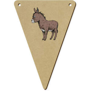 5 x 140mm 'Donkey' Wooden Bunting Flags (BN00066040)