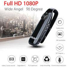 12MP 1080P 130° HD Mini Dash Camera Police Body Bike Camcorder Motion Detect AVI