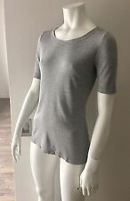 WOLFORD SCOOP NECK SHORT SLEEVE GRAY TOP / T-SHIRT SZ S