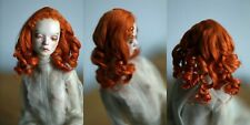 OOAK styled alpaca mohair wig for bjd Popovy doll 4,5'' size carrot curly