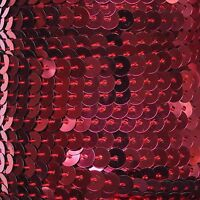 """Hot Cherry Wine Red Sequin Trim 6mm 1/4"""" wide stitched, strung by the yard 15'"""