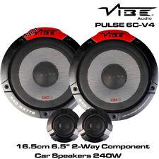 """Vibe PULSE 6C-V4 - 6.5"""" 16.5cm 2-Way Car Component Speakers 240W Door Speakers"""