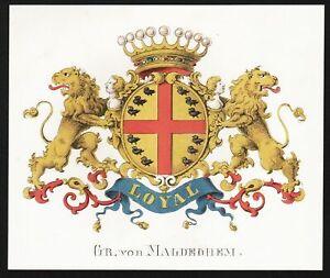 Gr. von Maldeghem Wappen blason coat of arms 1860