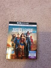 Justice League (Blu-ray Disc, 2018, 4K Ultra Hd Blu-ray/Blu-ray) No Digital Code