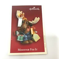 New Hallmark Keepsake Ornament Mooster Fit It 2005 Moose Handyman in Box