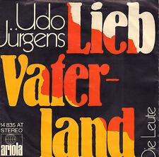 "UDO JÜRGENS – Lieb Vaterland (1971 VINYL SINGLE 7"" GERMANY)"