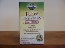 Garden Of Life  Raw Enzymes Women Full Spectrum Enzymes 90 Capsules