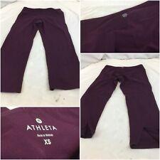 Athleta Yoga Capri Pants XS Burgundy Poly Lycra Mint Condition YGI H8-518