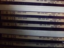 n°e591 lot 3 microfiche mercedes w115 200 240