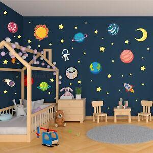 Wandtattoo Planeten Sonnensystem Sonne Mond Sterne