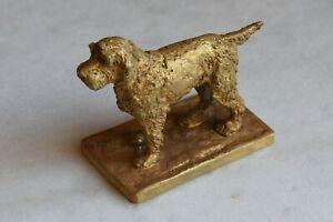 Sublime bronze de Vienne - Chien debout (Griffon)