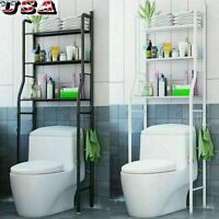 3 Shelf Over The Toilet Bathroom Metal Towel Storage Rack Organizer Space Saver!