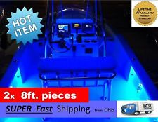 x2 pieces (8ft each) ____ BLUE boat kit - pontoon or fishing boat part - NEW