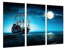 Cuadro Moderno Barco Antiguo de Vela, Carabela, Guerra, Mar Atardecer,ref 26445