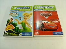 LEAPSTER Learning Game Lot of 2 Disney fairies & Disney/Pixar Cars