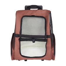 Pet Carrier Backpack Travel Stroller with Wheel Luggage Bag for Dog and Cat
