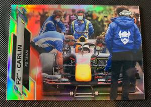 2020 Topps Chrome F1 Formula 1 F2 Carlin Racing Team Refractor Base Card #110