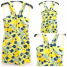 Topshop Ladies Yellow Floral Mini Dress Party Evening Wedding Holiday Size 8