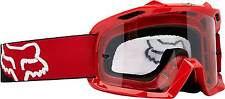 Fox Air Space Red Black Motocross Goggles with Increased Peripheral Vision