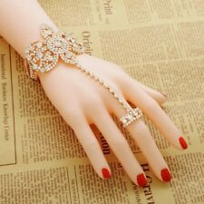 Finger Ring Hand Harness Chain Bracelet Jewellery Designer Wear uk