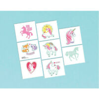 Unicorn Party Supplies - Magical Unicorn Party Favour Temporary Tattoos 8 Pack