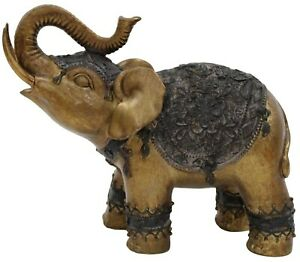 Geri Collection Out Of Africa Jungle Rustic Gold Elephant Figurine Ornament