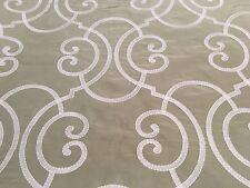 Cowtan Tout Embroidered Filigree Fabric Seraglio Silk Fern Ivory 1.0 yd 11329-03