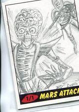Mars Attacks Heritage Sketch Card By Dan Curto