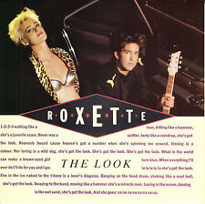 """ROXETTE The Look PICTURE SLEEVE 7"""" 45 rpm vinyl record + juke box title strip"""