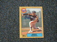 Mike Scott Autographed Baseball Card JSA AUCTION CERTIFIED 2