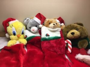 FREE SHIP! Plush Toy Christmas Stockings, 'Your Choice' Tweety, Bears, Mouse