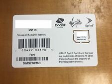 Sprint sim SIMGLW236C UICC 4G LTE