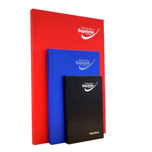 Supreme Quality A-Z Hard Cover Index Notebook Ruled Book 200 Pages - 100 Sheets