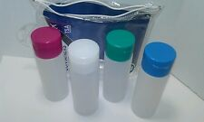 TRAVEL 4 PACK CLEAR  EMPTY  BOTTLE CONTAINER CARRY ON COSEMETIC /TRAVEL BAG