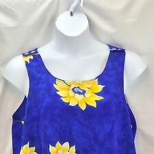 Women's Dress Size 20 Sleeveless Sun Blue Chrysanthemum Maxi Beach
