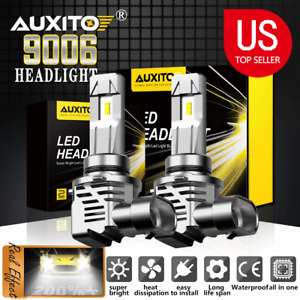 AUXITO 24000LM 120W LED Headlight 9006 HB4 Low Beam 6500K White Bulbs One Pair