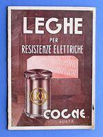 Scienza Tecnica - Leghe per resistenze elettriche - Cogne - Aosta - anni '40