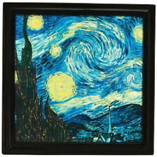 New Scentsy Gallery Frame - Starry Night - Magnetic Htf Vincent Van Gogh Frame