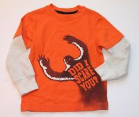 Gymboree S'More Style Scary Bigfoot Long Sleeve Tee Shirt Top Boy's Size 4 NEW