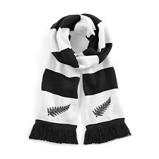 Retro New Zealand National Rugby Traditional Scarf with Embroidered Logo