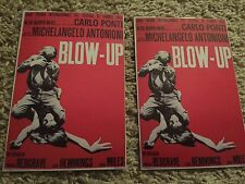 BLOW UP Antonioni lot of 2 classic Movie postcards