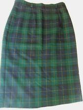 Womens Green Blue Tartan Lined Skirt House Of Fraser Size 14