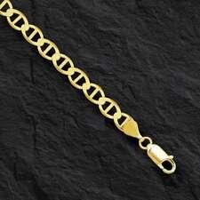 "10k oro amarillo macizo cadena de ancla Mariner/Collar 5.4MM 8.5 gramos 18"""