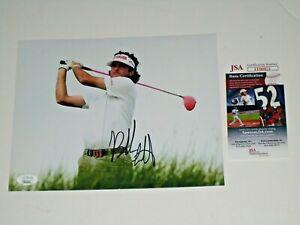 Bubba Watson signed Ping Pink Driver PGA Golf Tour 8x10 Photo JSA #FF00821