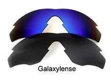 GALAXY Lenti di ricambio per Oakley M2 TELAIO NERO & Blu Polarizzati 2 paia