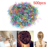 500pcs caoutchouc tressage tresse petite bande de cheveux hairope élastique LTA