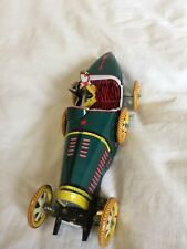 Tin Wind Up Racing Car Toy - BUGATTI I-970 - 1980s Repro of 1930s Model Car T35