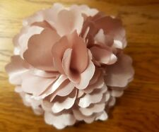 "Girls Women 3.4"" Silk Rose Flower Hair Clip Brooch,corsage.Champagne beige Gold"